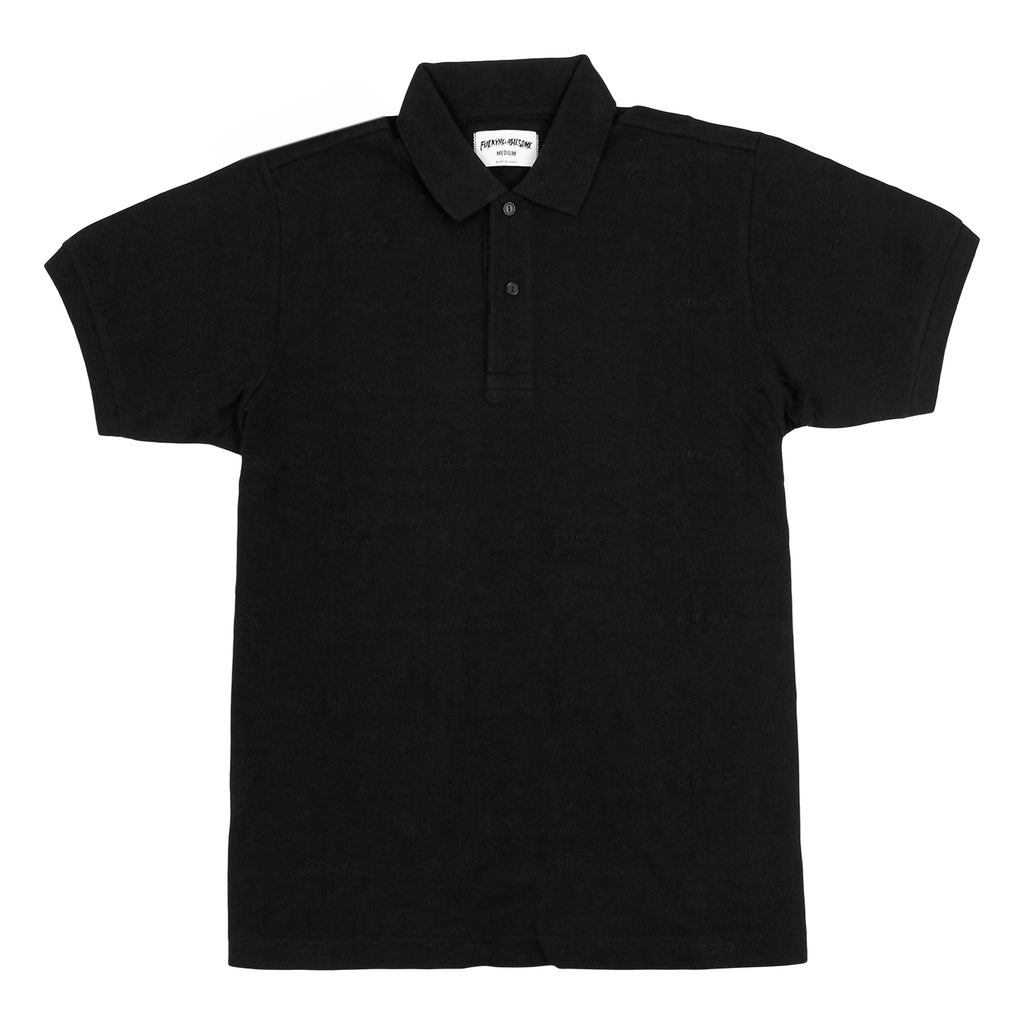 Fucking Awesome Logo Polo Shirt in Black