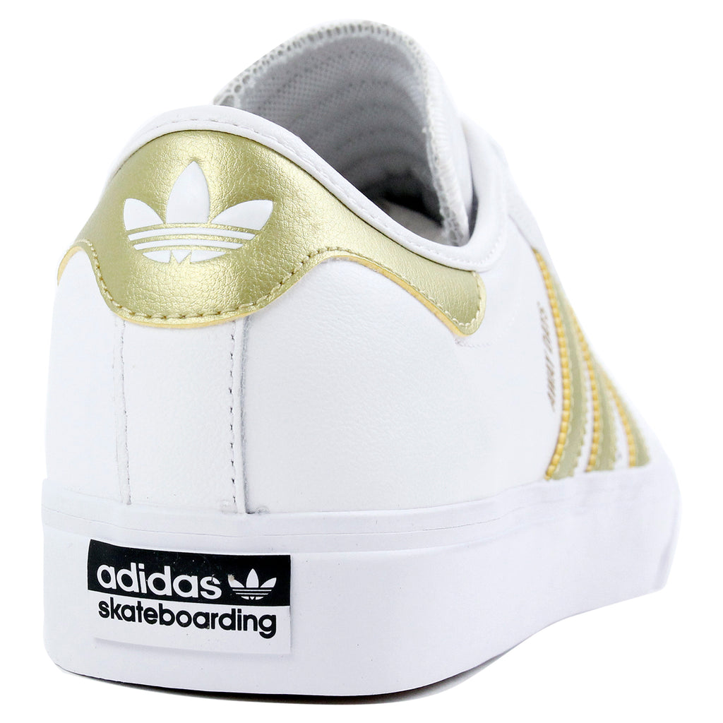"Adidas Skateboarding Adi Ease Premiere ""Away Days"" Shoes - White / Gold Metallic / Gum - Heel"