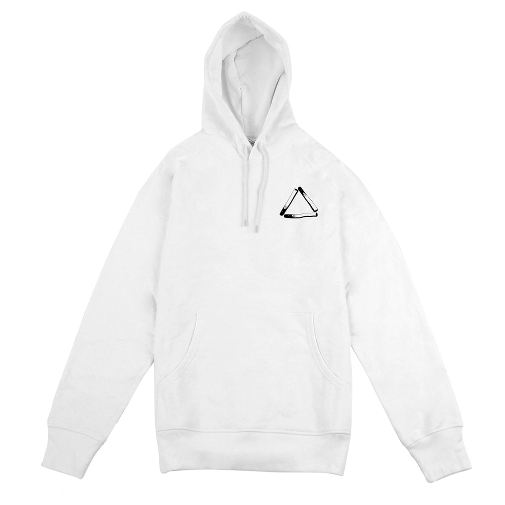 Palace Tri Smoke Hoodie in White