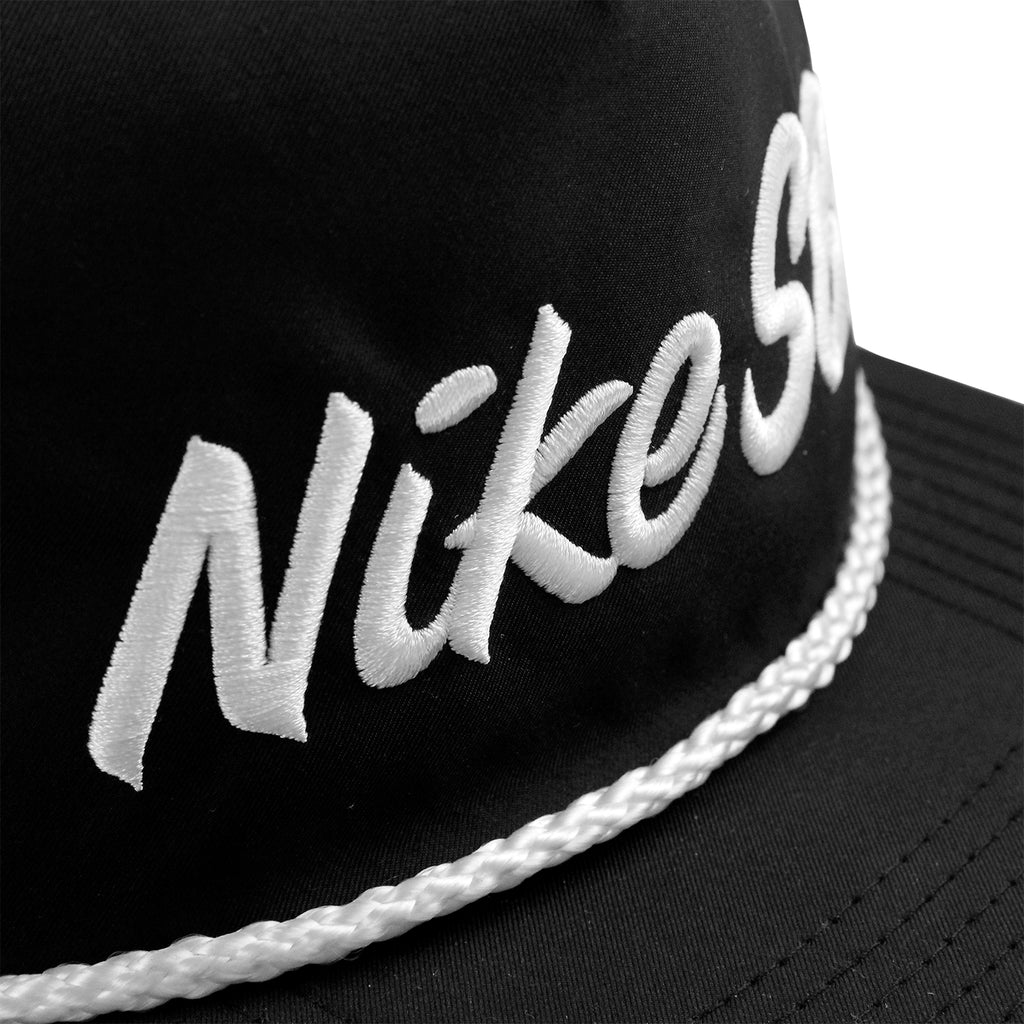 Nike SB Unstructured Dri-Fit Pro Cap in Black - Detail