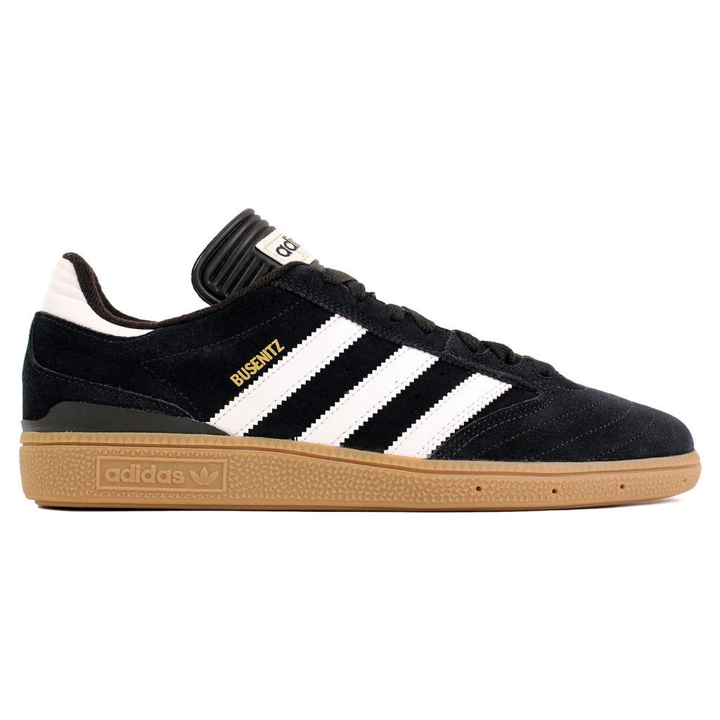Adidas Busenitz Shoes in Black / Running White / Metallic Gold