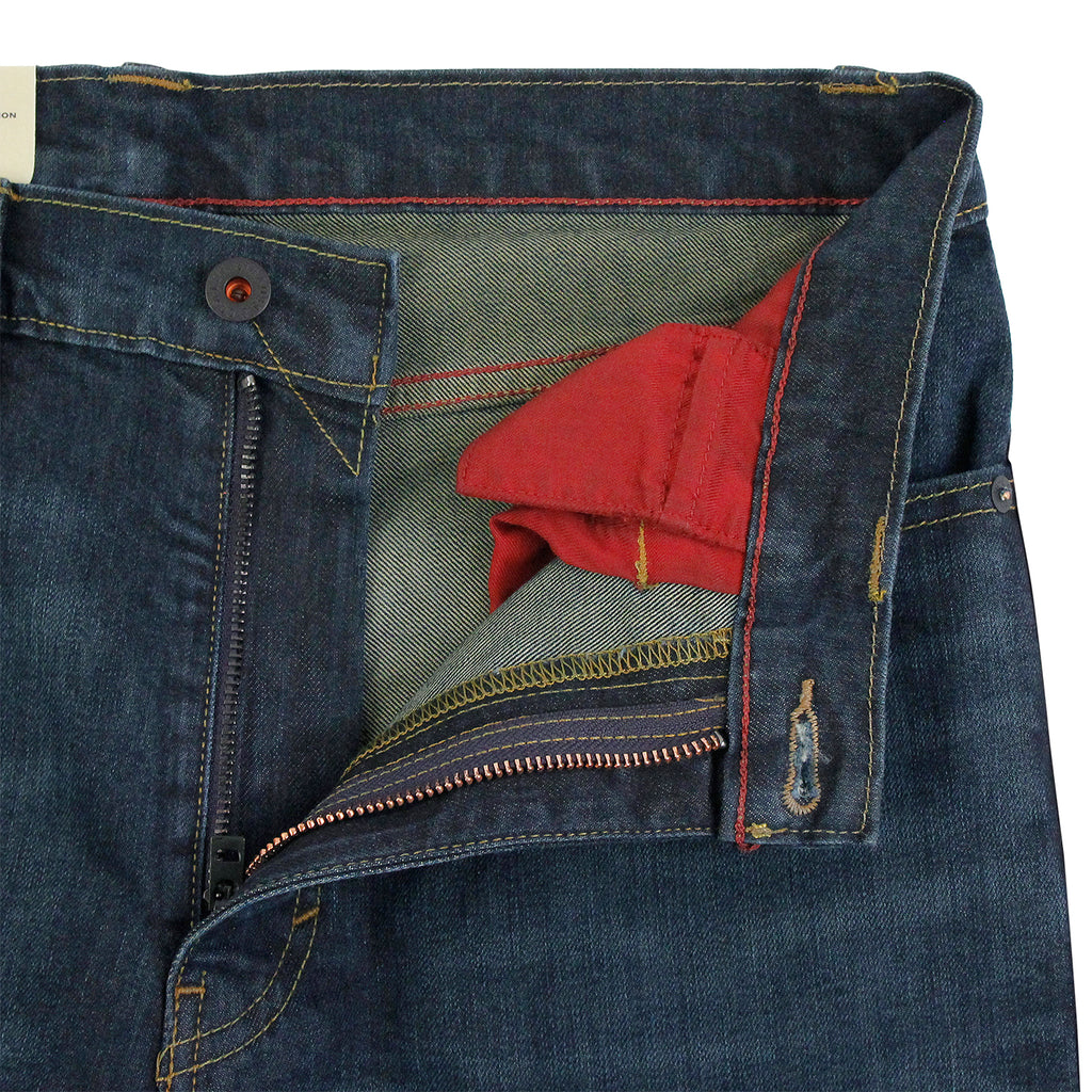 Levis Skateboarding 511 Slim Jeans in EMB - Open zip