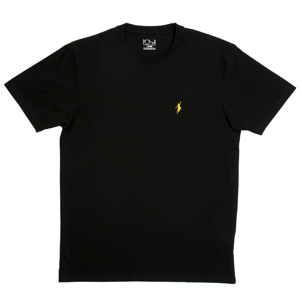 Polar Skate Co No Comply T Shirt in Black / Yellow