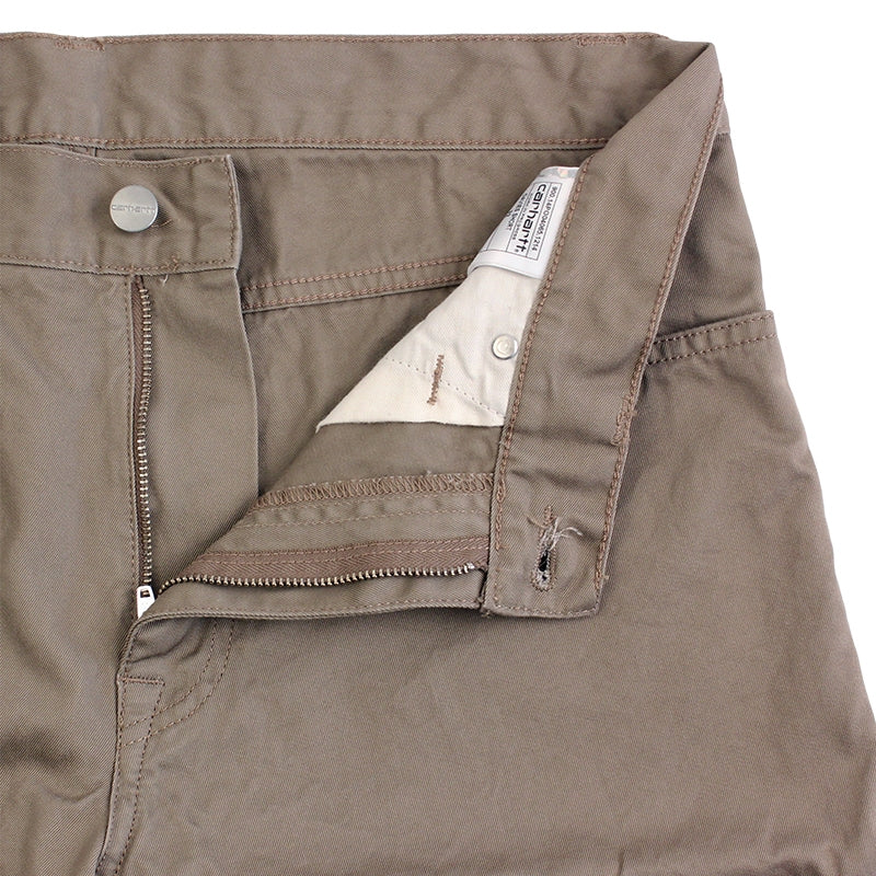 Davies Short in Leather Rinsed by Carhartt - Zipper