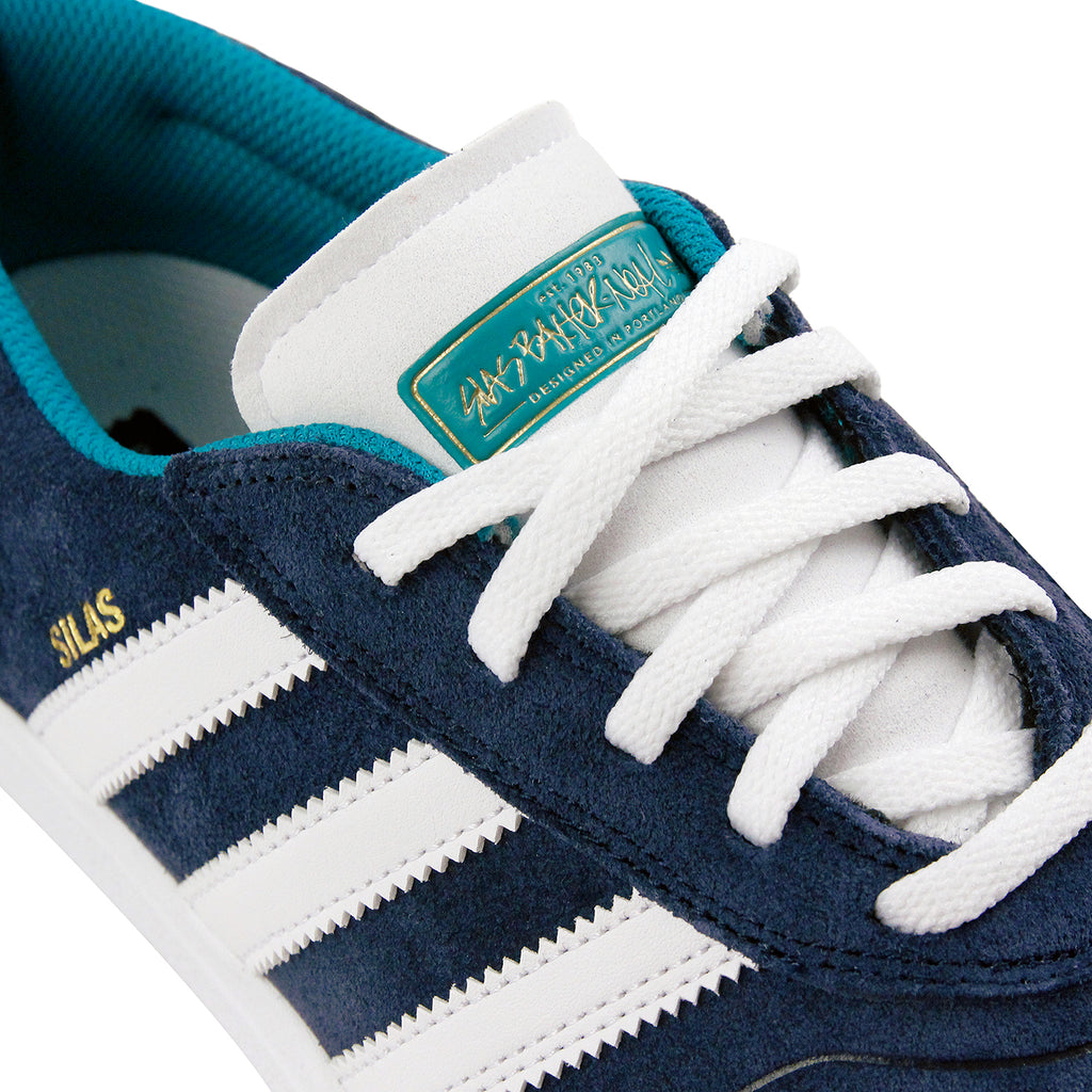Adidas Skateboarding Silas Vulc ADV Shoes - Collegiate Navy / White /Gold MT - Lace