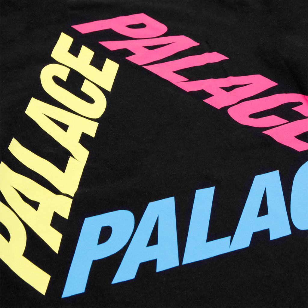 Palace P 3 L/S T Shirt in Black / Multi - Back print
