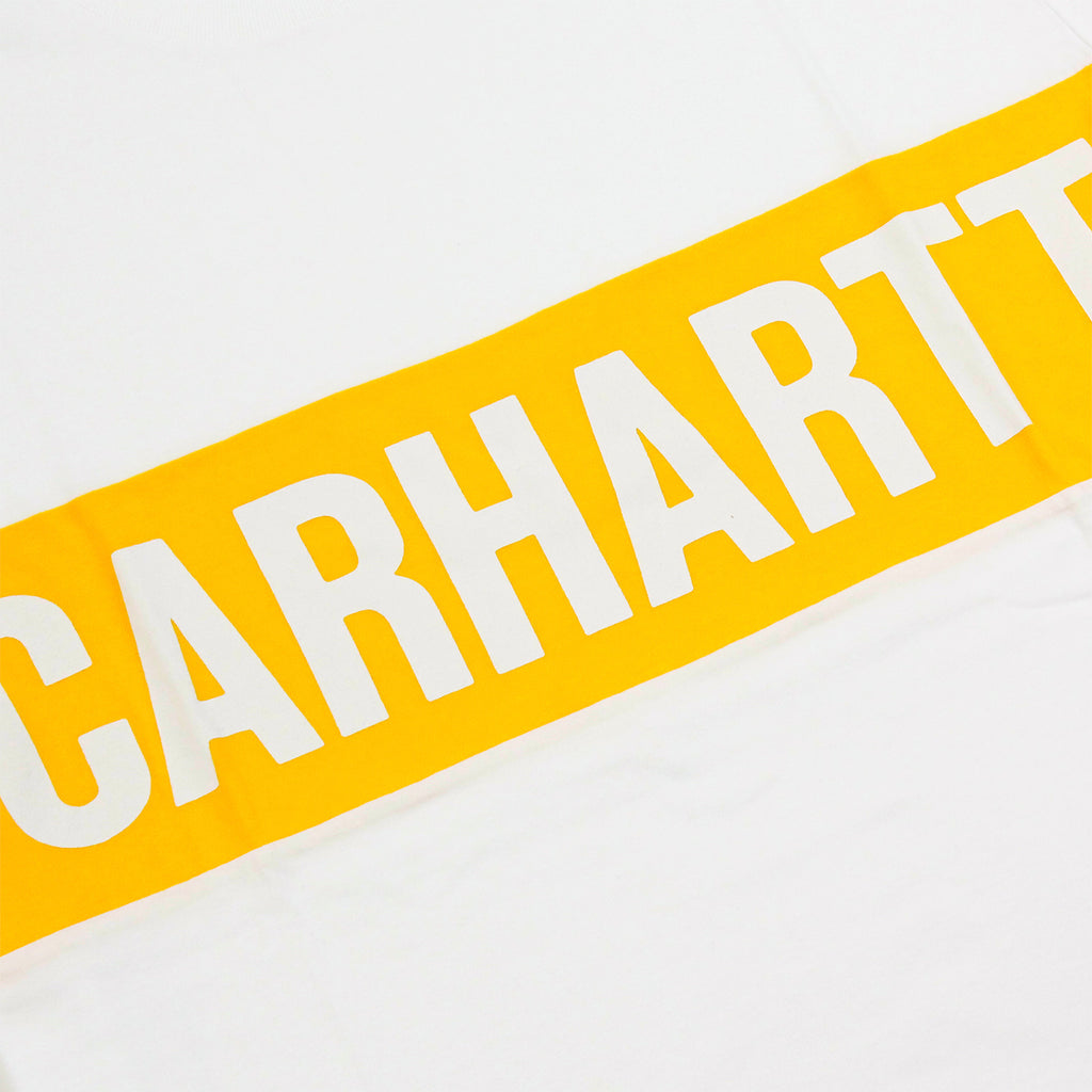Carhartt Shore T Shirt in White / Carambola - Print