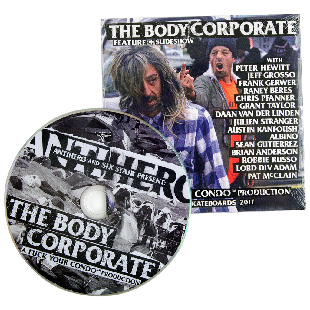 Anti Hero Skateboards The Body Corporate DVD - Disc