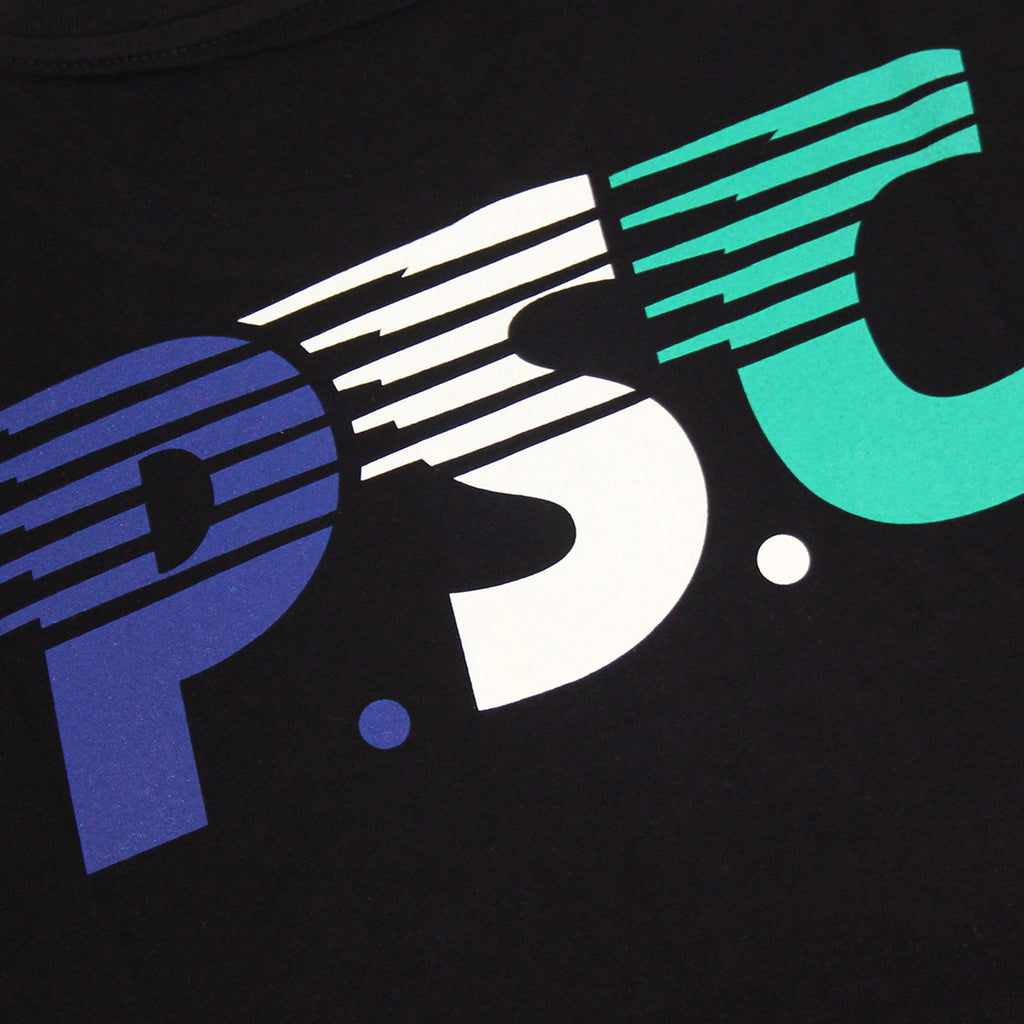 Polar Skate Co PSC T Shirt in Black / Navy / White - Back Print