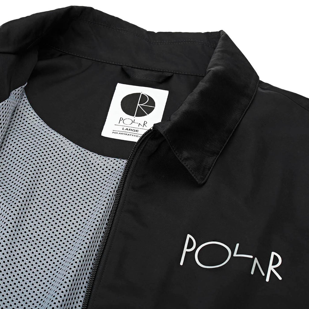 Polar Skate Co Coach Jacket in Black - Detail