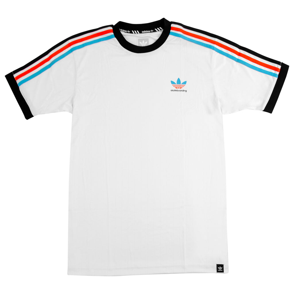 f438ec366 Adidas Skateboarding Clima Club Jersey in White / Energy Blue / Energy /  Black