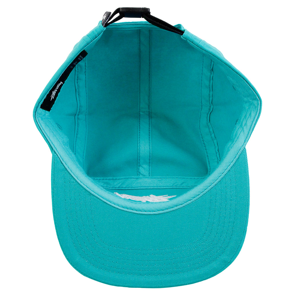 Stussy Stock 5 Panel Cap in Teal - Inside