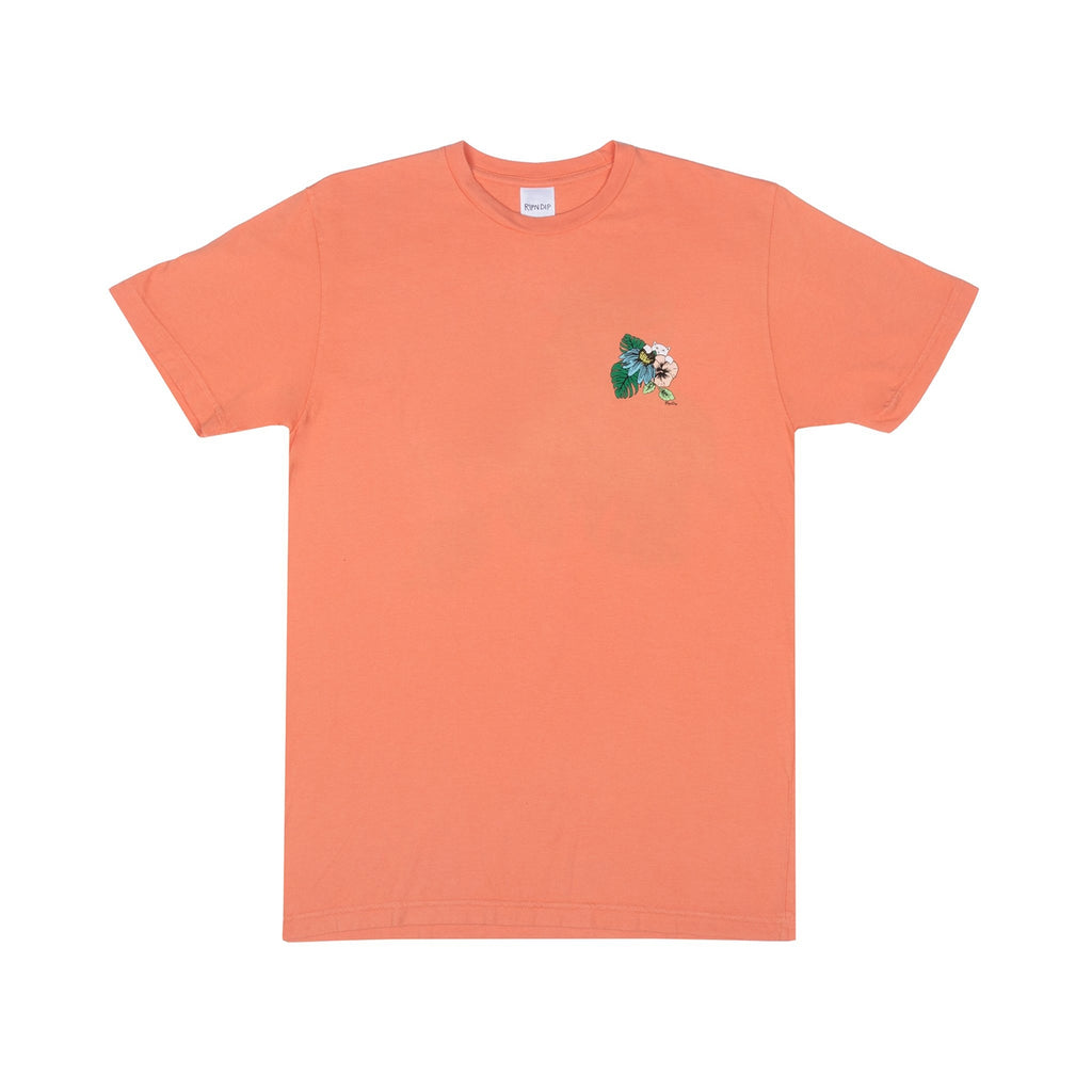 RIPNDIP Tropicalia T Shirt in Salmon - Front
