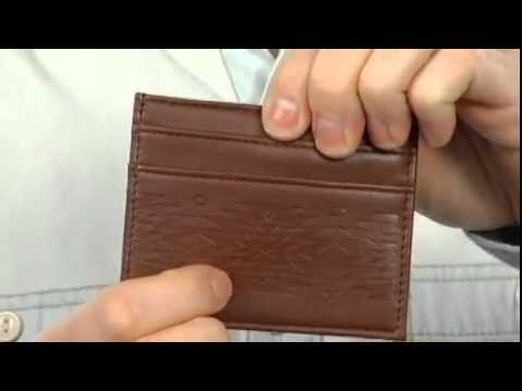 Mesa ID Wallet in Brown by Obey Clothing