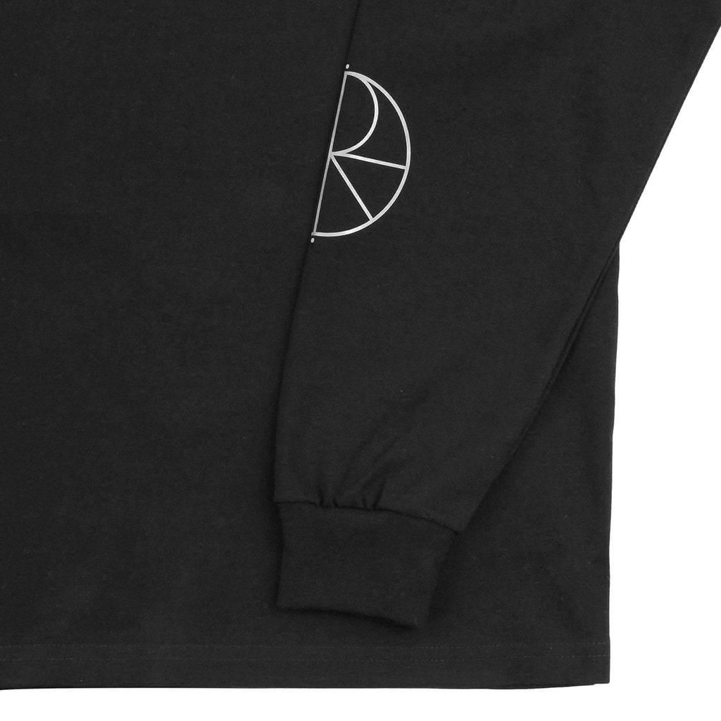 Polar Skate Co Reflective Racing L/S T Shirt in Black / Reflective Silver  - Cuff