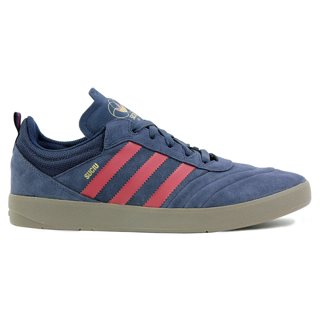 Adidas Skateboarding Suciu ADV Shoes in Collegiate Navy / Collegiate Burgundy / Gum