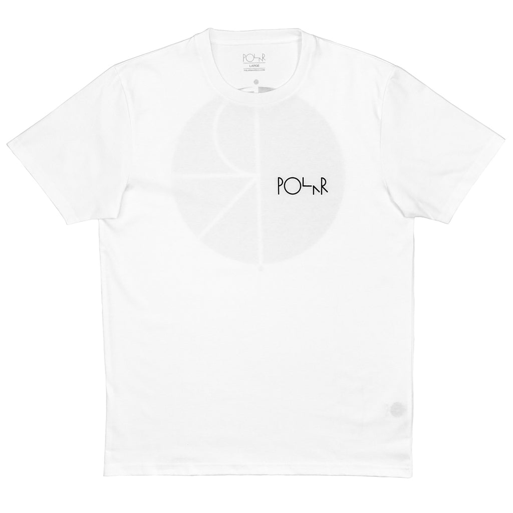 Polar Skate Co Fill Logo T Shirt in White / Black - Front