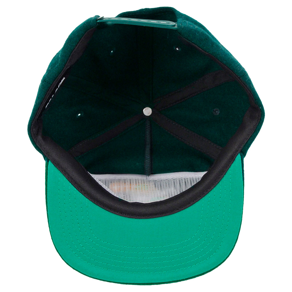 Palace Roadrunner Snapback in Dark Green - Inside
