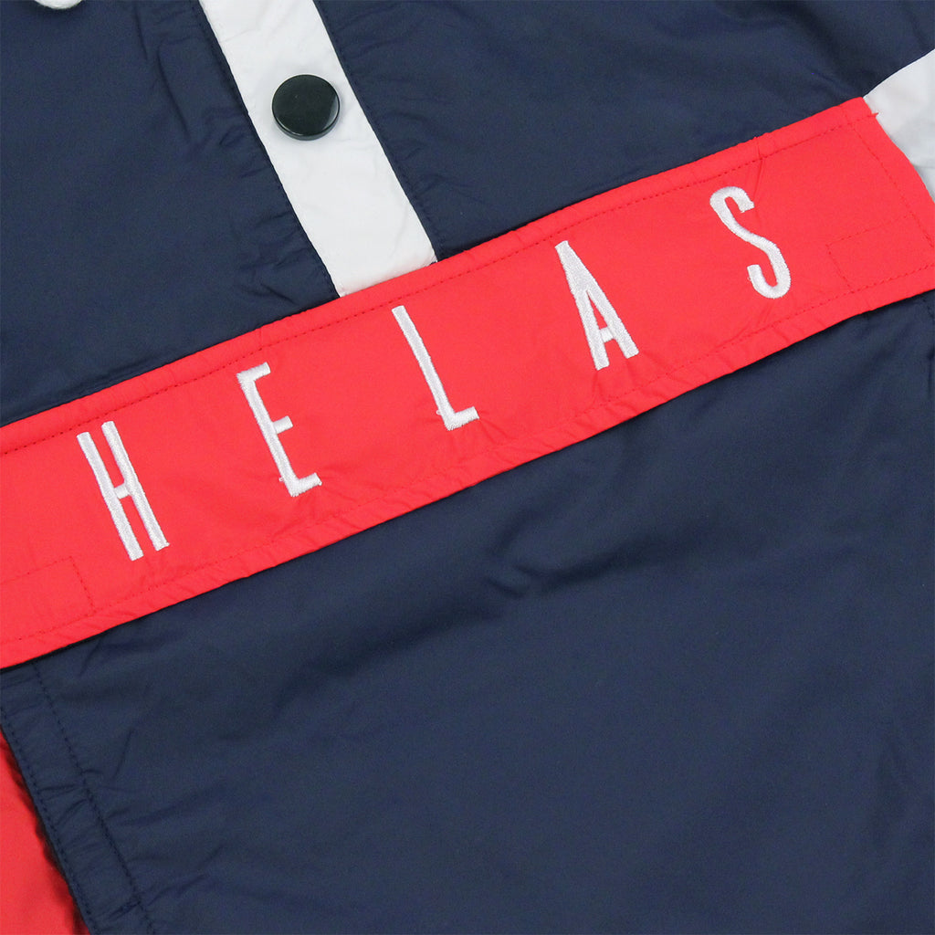 Helas Kanguru Hooded Jacket in Navy / Red - Pocket
