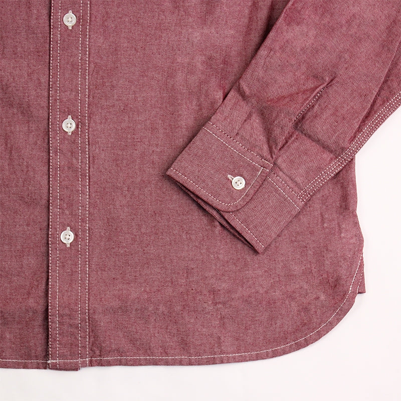 Carhartt State L/S Shirt in Cordovan Rinsed - Cuff