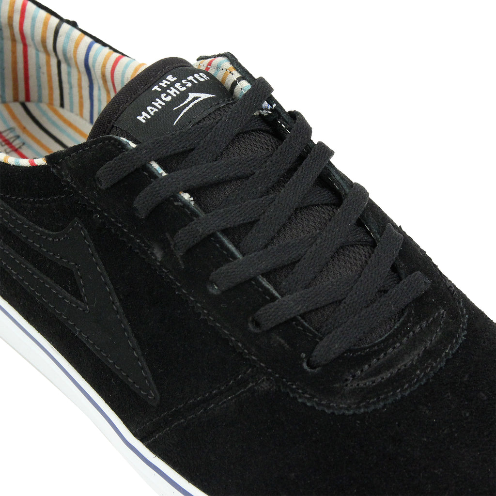 Lakai Manchester Crailtap Suede Shoes in Black/White - Detail