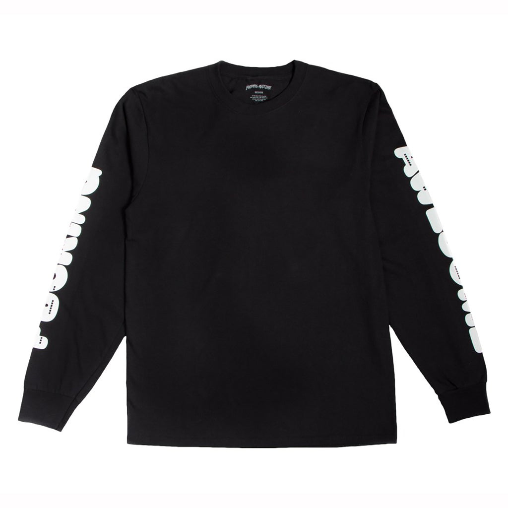 Fucking Awesome Teeth L/S T Shirt in Black - Detail