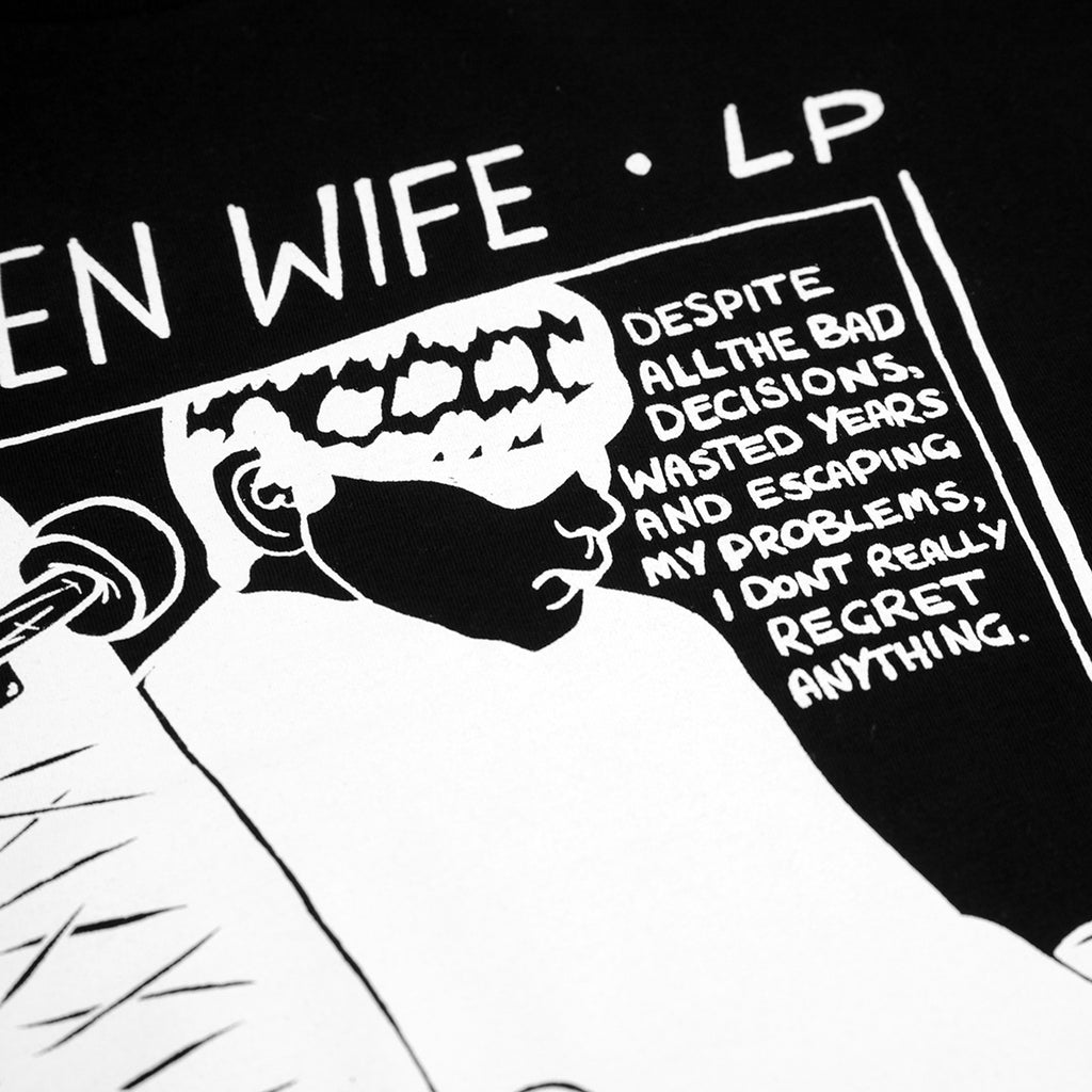 Wooden Wife Skateboards Sonic T Shirt in Black - Print detail