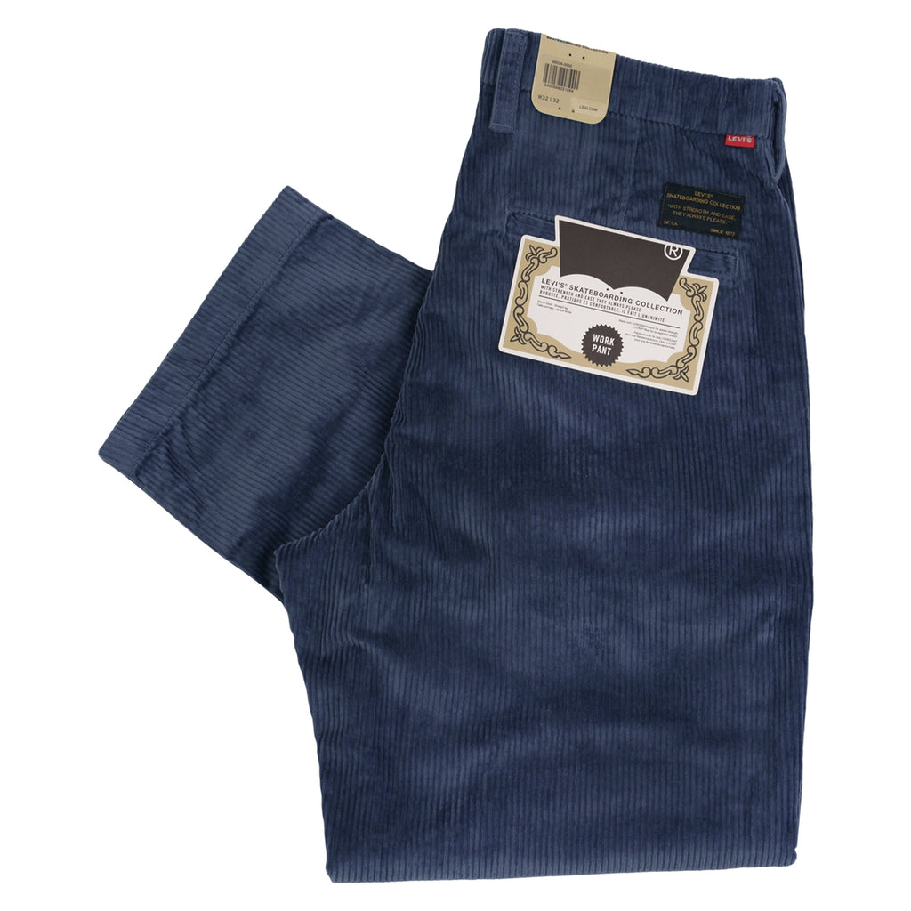 Levis Skateboarding Pleated Trousers in Vintage Indigo - Folded