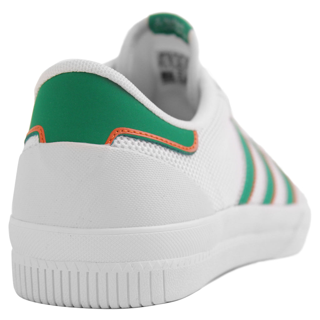 Adidas Lucas Premiere ADV Shoes in White / Green / White - Heel