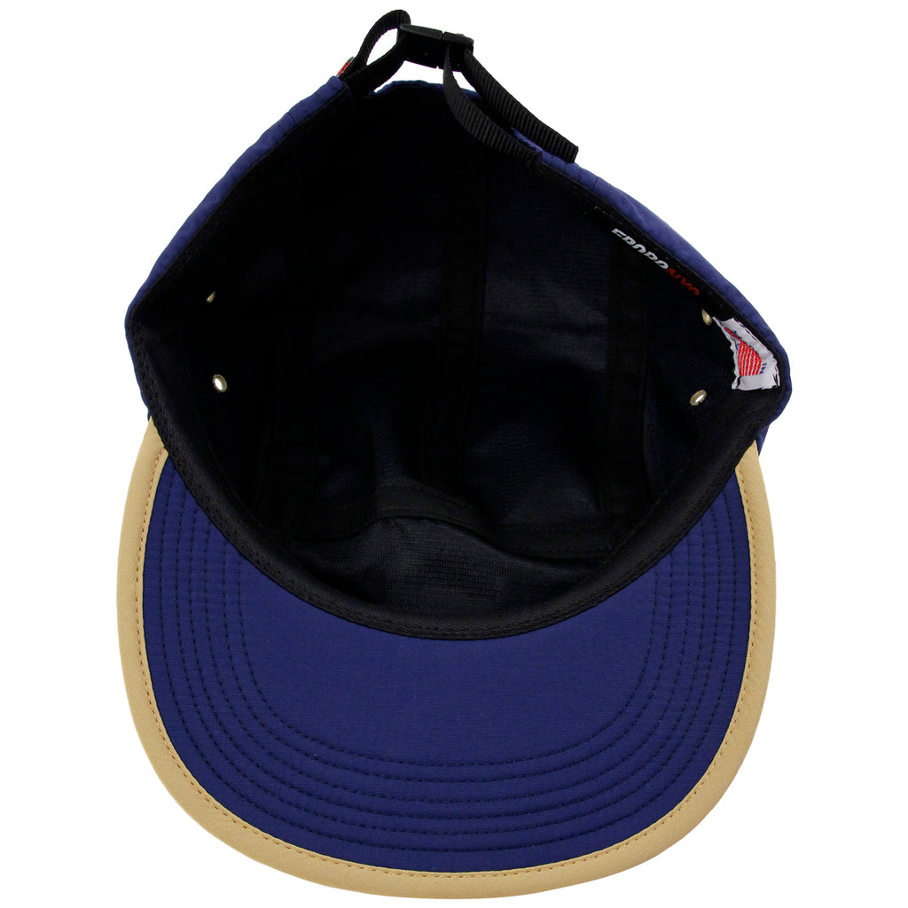 5Boro 5B VHS 5 Panel Camp Cap in Navy - Inside