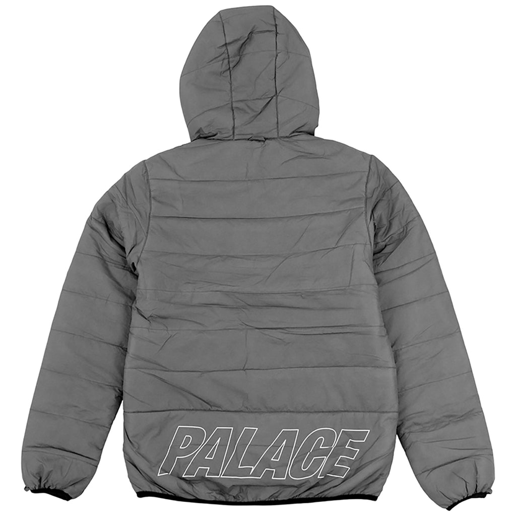 Palace Crink Thinsulate Jacket in Grey - Back