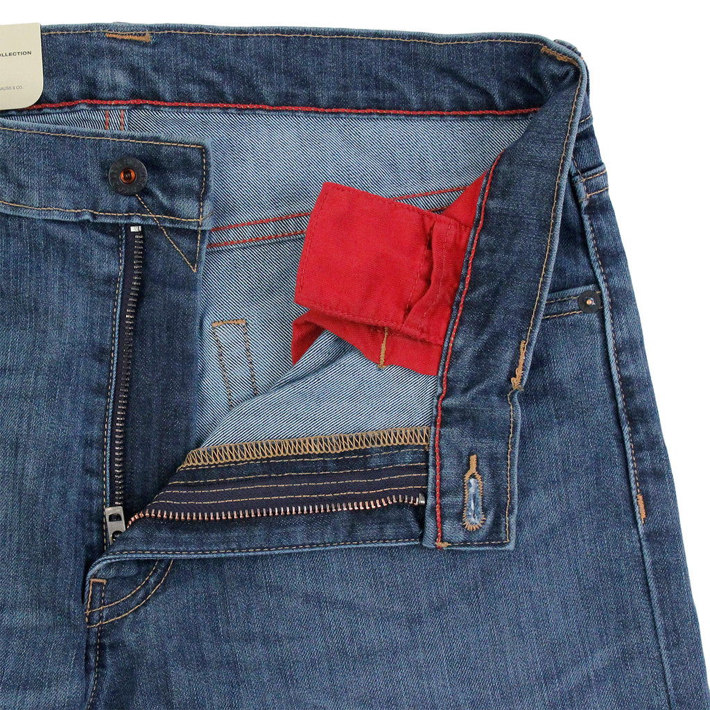 Levis Skateboarding 504 Straight Jeans in Turk - Open zip