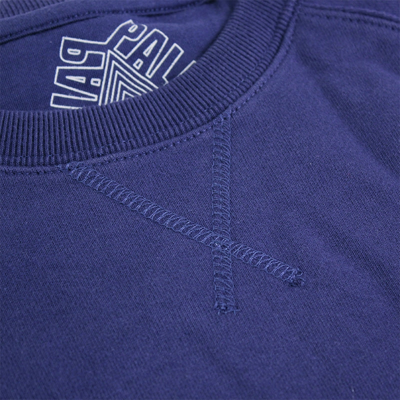 Palace Lips Pocket Crew in Blue - Stitching