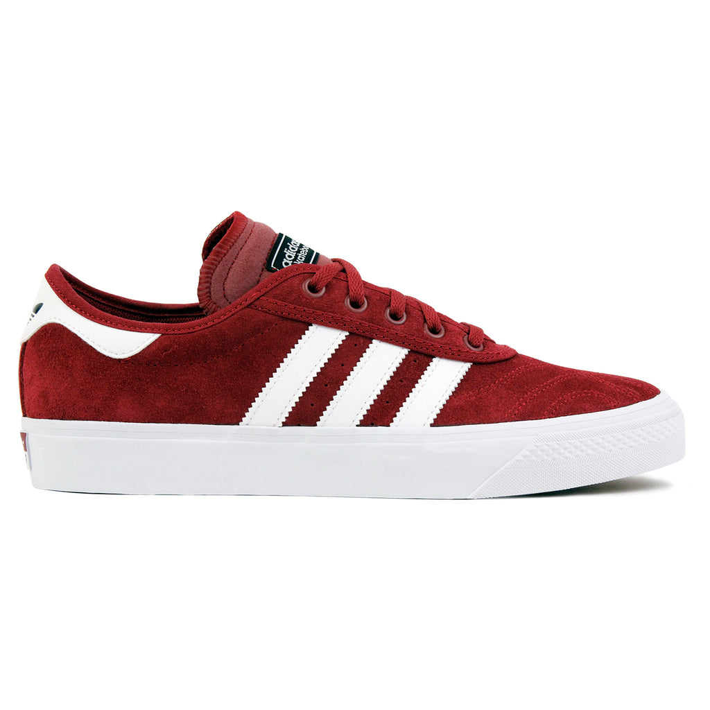 Adidas Skateboarding Adi Ease Premiere Shoes - Collegiate Burgundy / White / Core Black