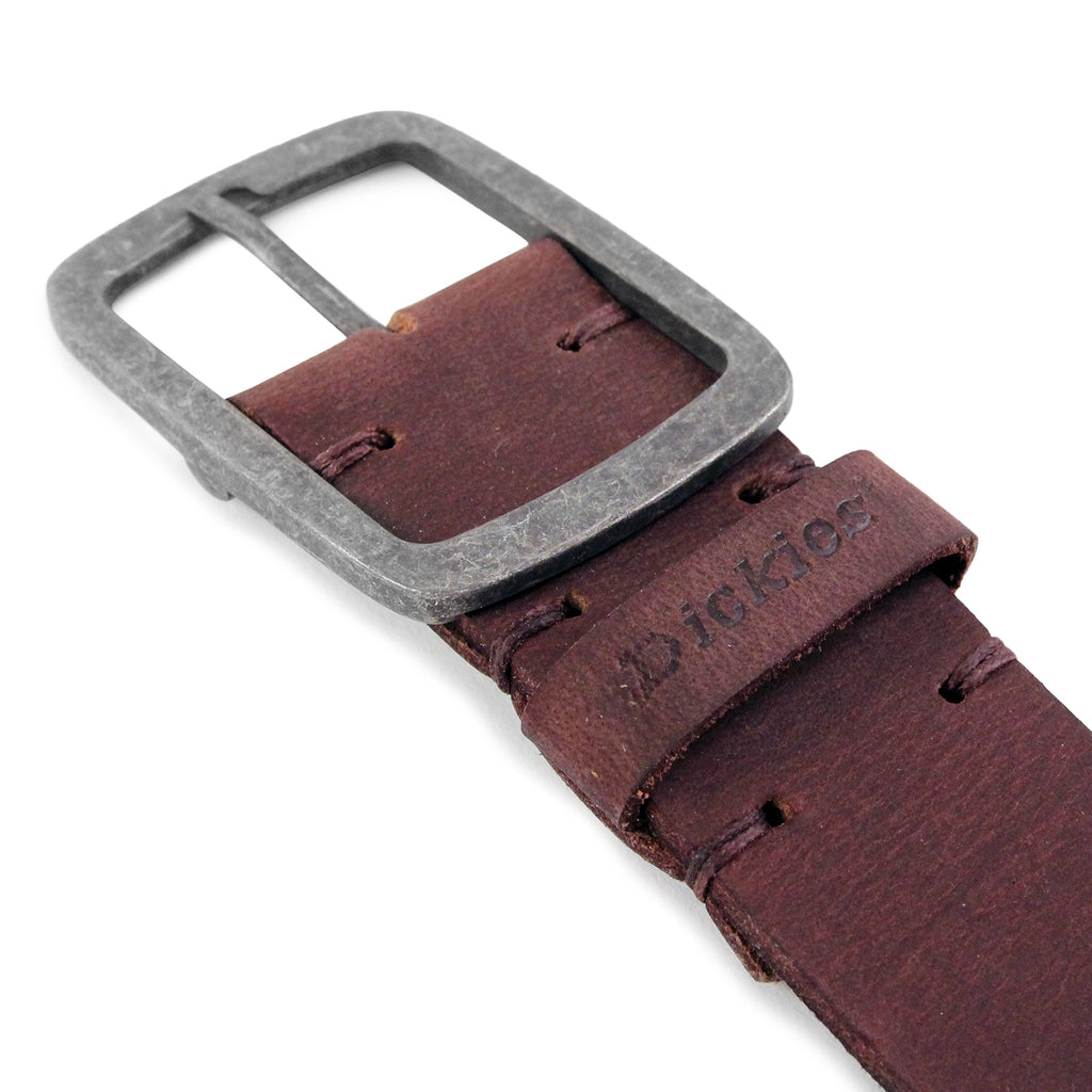 Dickies Eagle Lake Leather Belt in Brown - Buckle