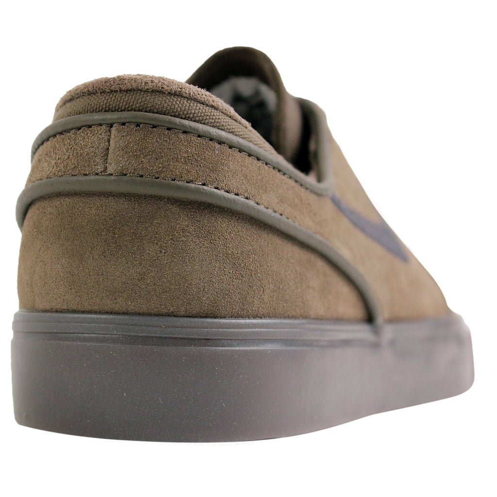 Nike SB Stefan Janoski Shoes in Fieldstone Iron / Anthracite / White Gum - Back