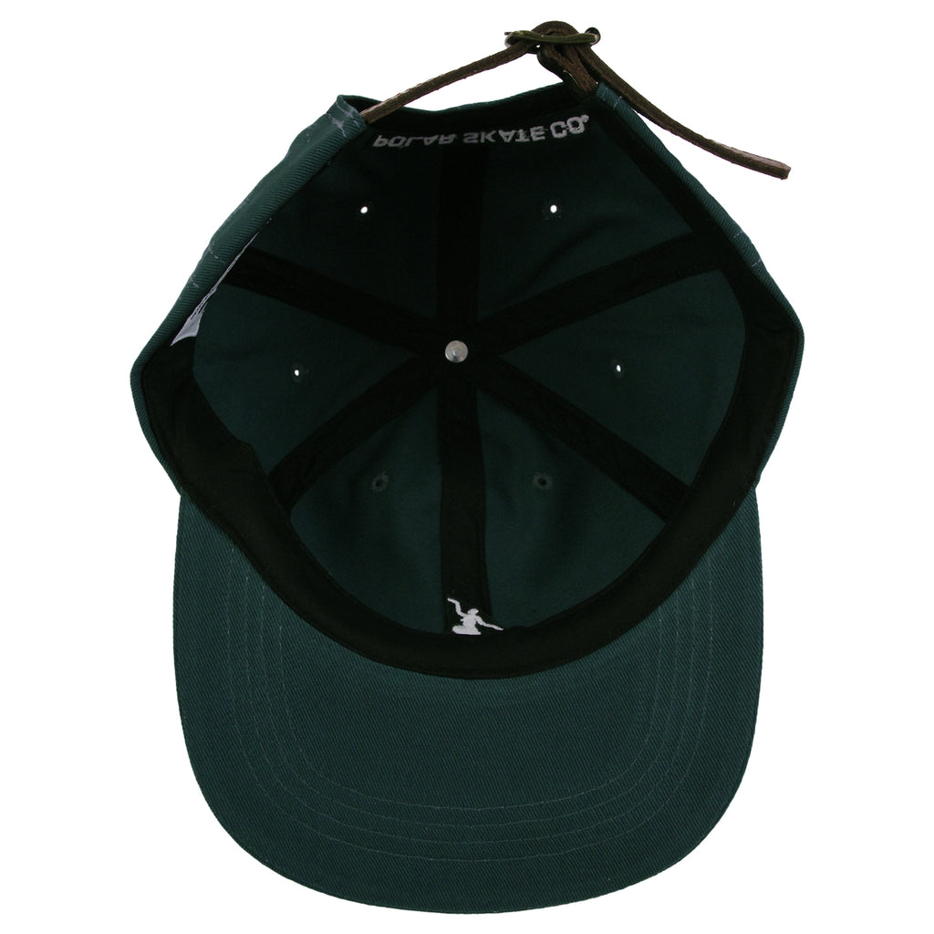 Polar Skate Co No Comply Cap in Botanical Green - Inside