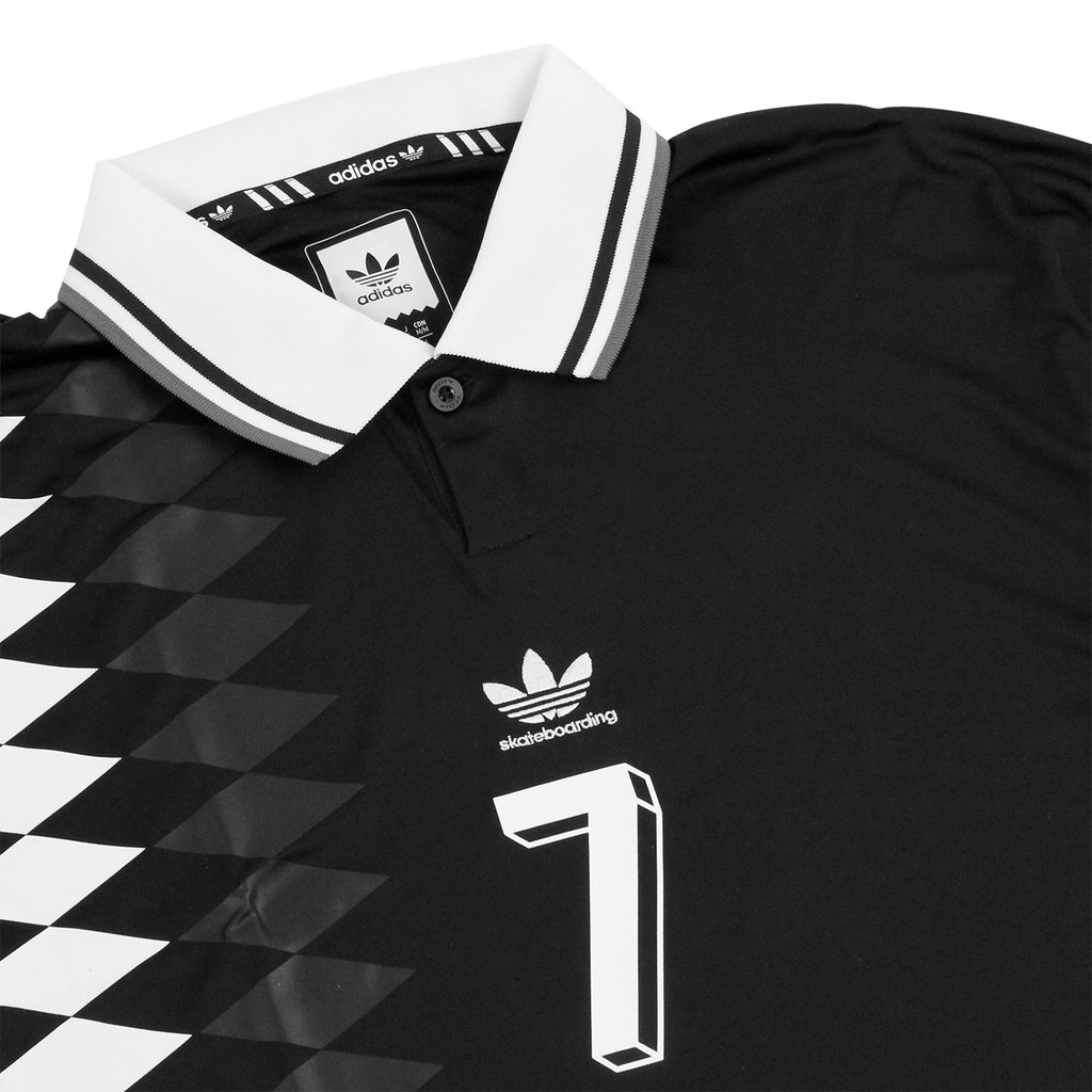 Adidas Skateboarding Lucas Copa Spain Jersey in Black - Detail
