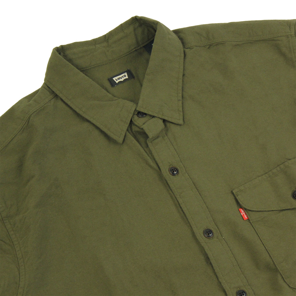 Levi's Skateboarding Collection Reform Shirt in Ivy Green - Detail