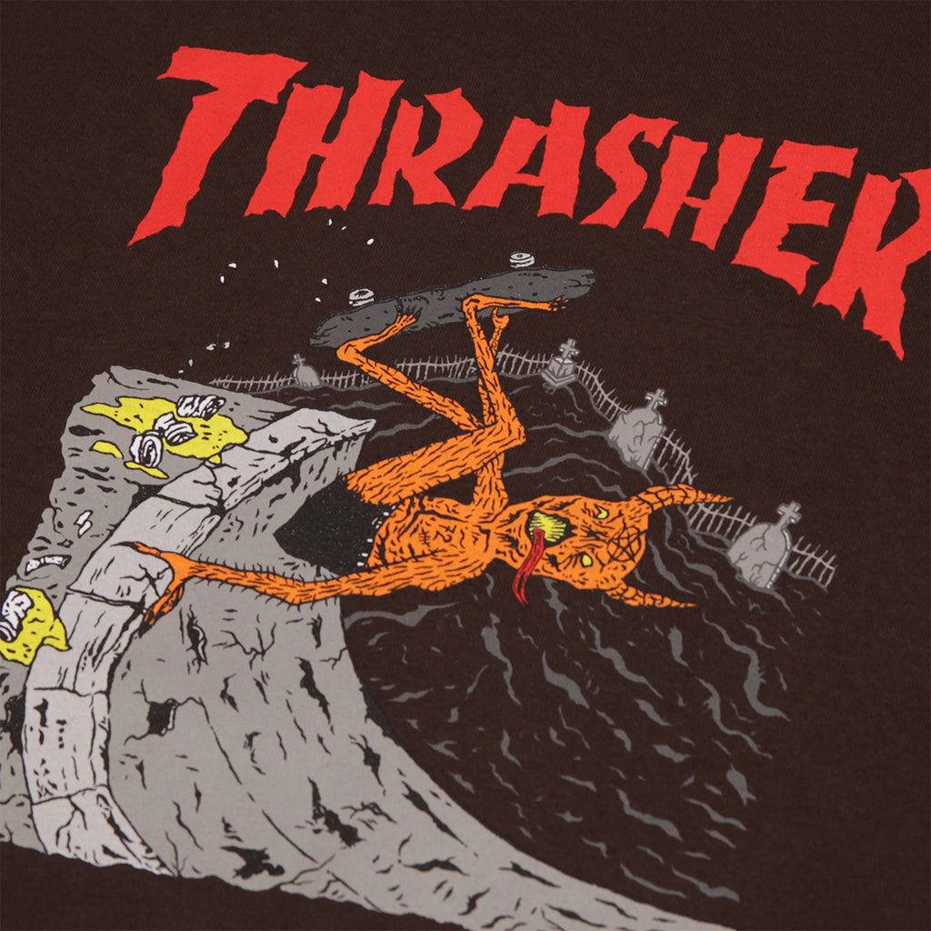 299f0e20830e Neckface Invert T Shirt in Brown by Thrasher | Bored of Southsea
