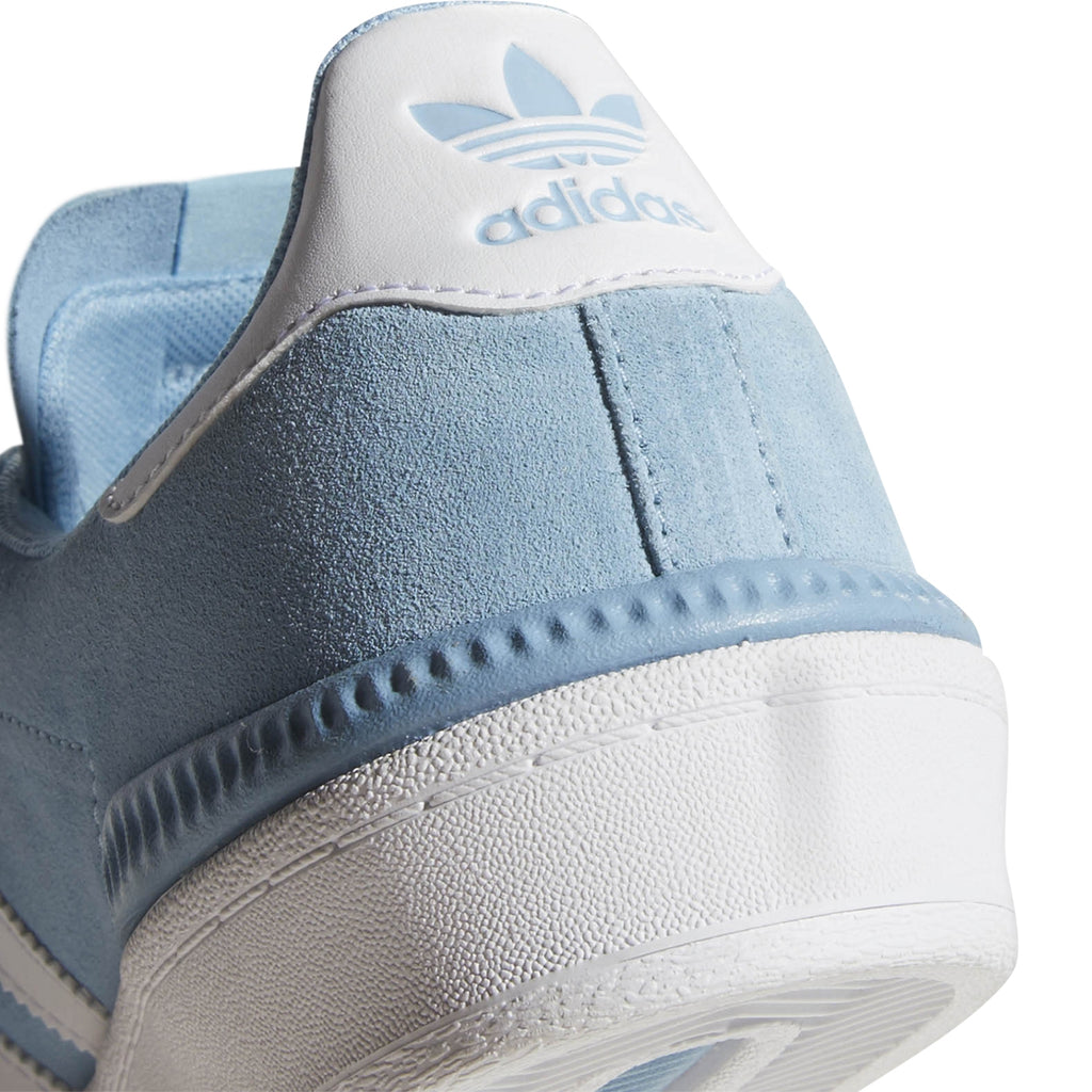 Adidas Campus ADV Shoes in Clear Blue / Footwear White / Footwear White - Heel