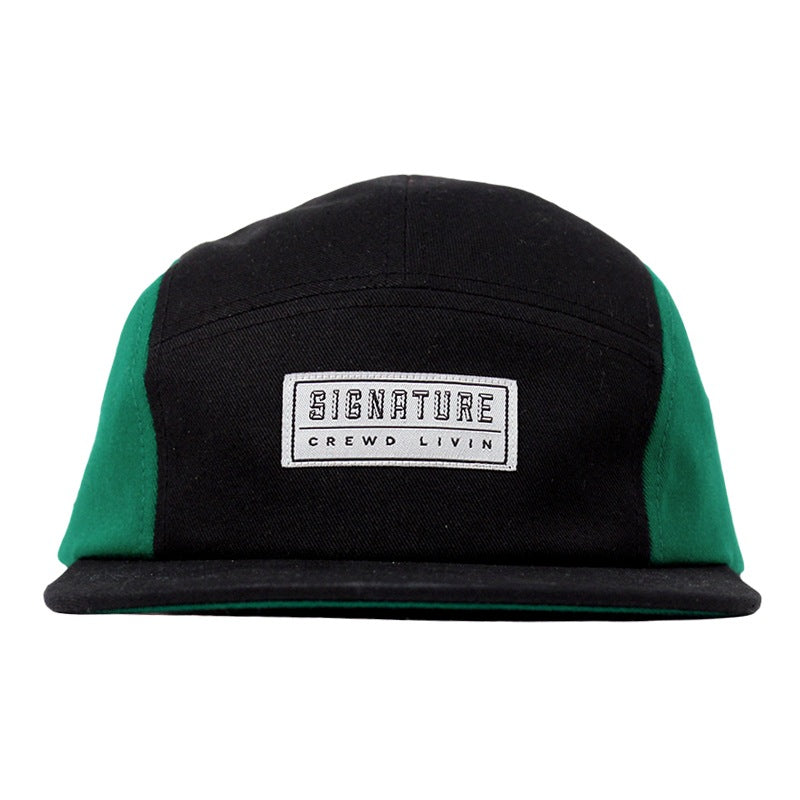 Signature Clothing Primitus 5 Panel Cap in Black / Strong Green - Front