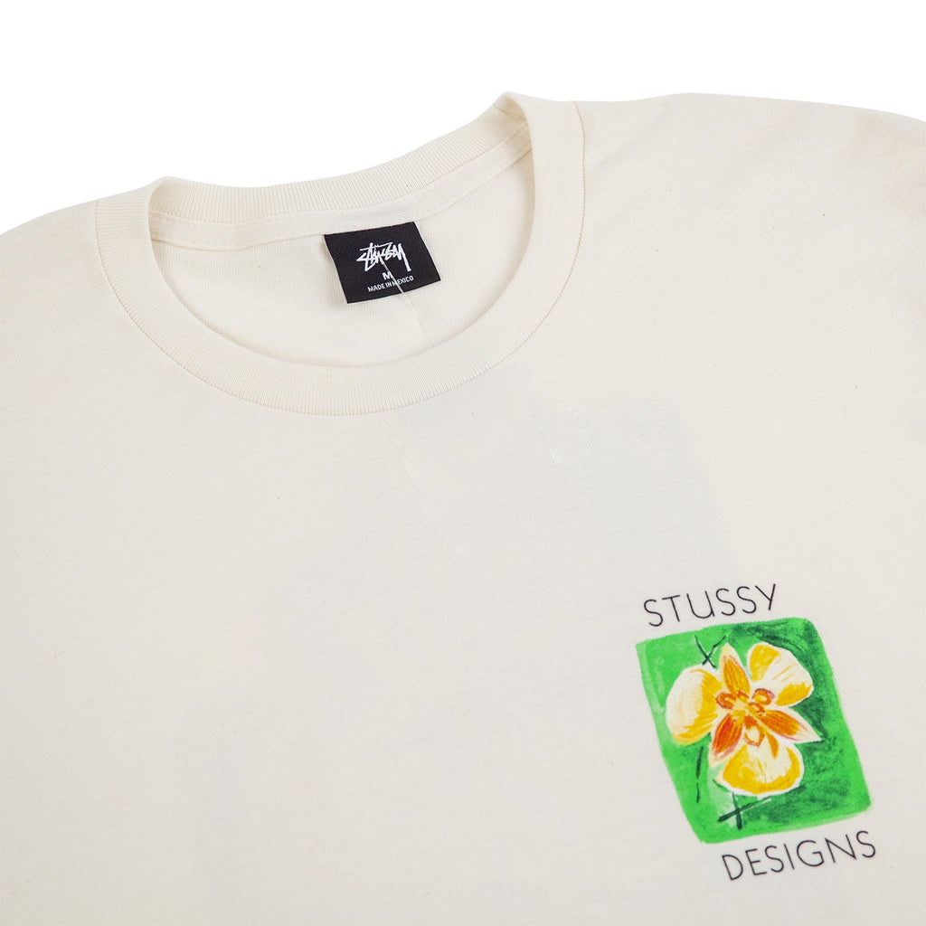 Stussy Hibiscus T Shirt in Natural - Detail