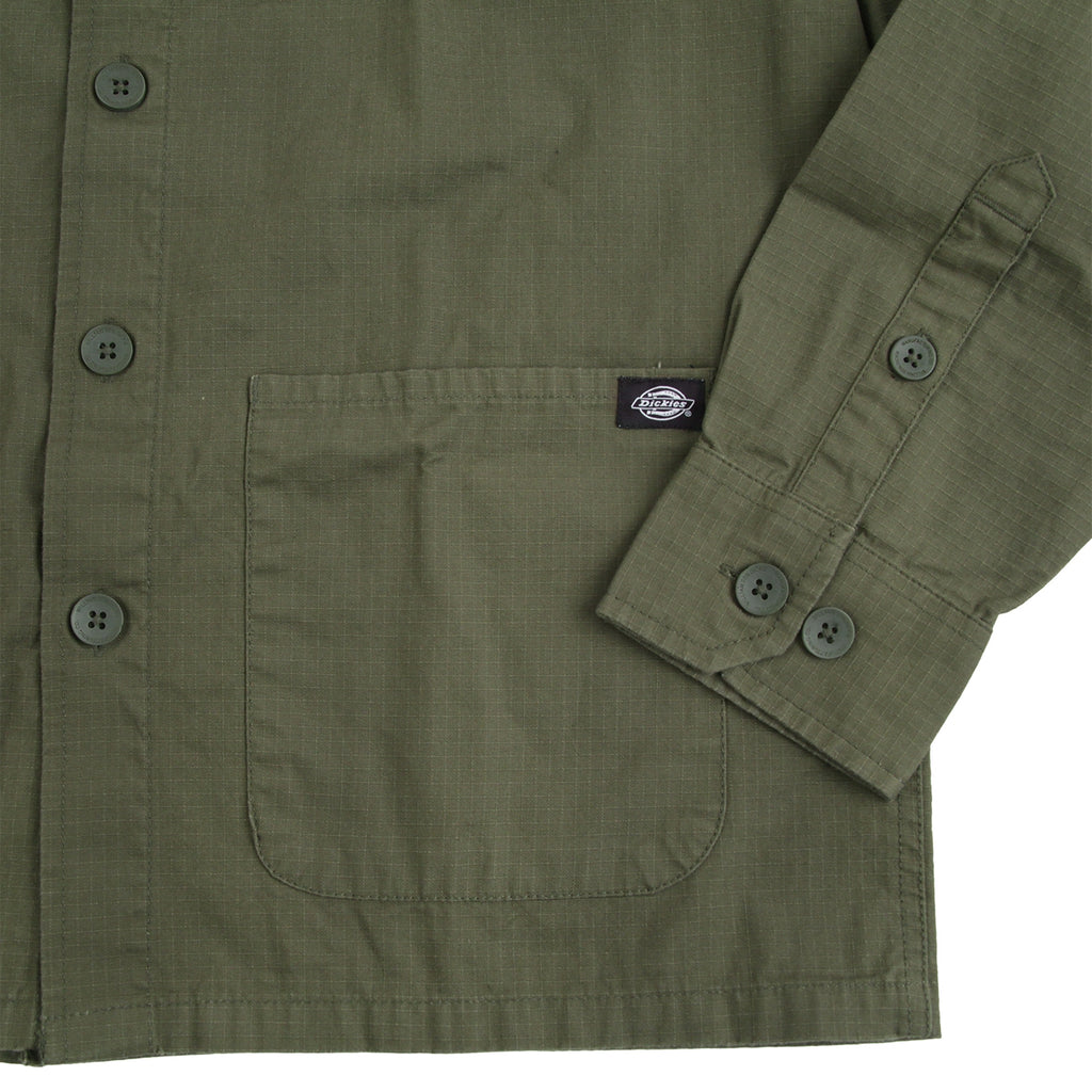 Dickies Kempton Shirt in Dark Olive - Detail 2