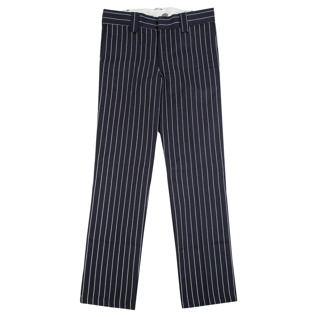 Dickies 873 Slim Straight Work Pant in Stripe / Dark Blue - Open