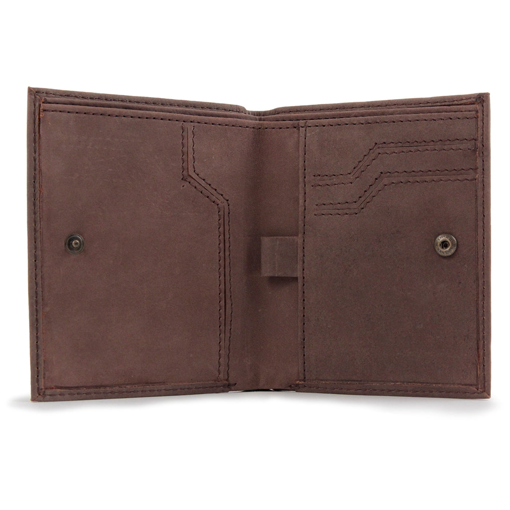 Dickies Ridgeville Wallet in Brown - Open