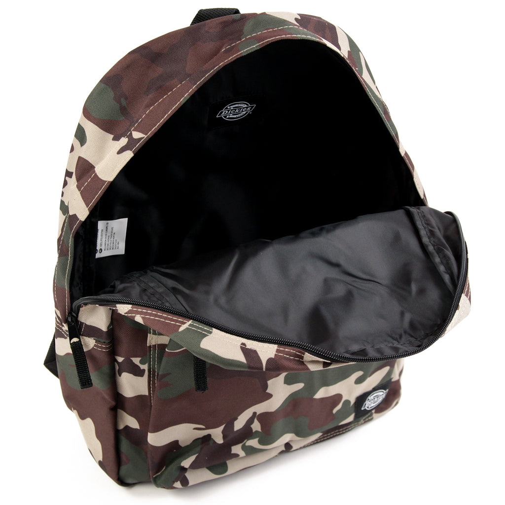 Dickies Indianapolis Backpack in Camouflage - Open