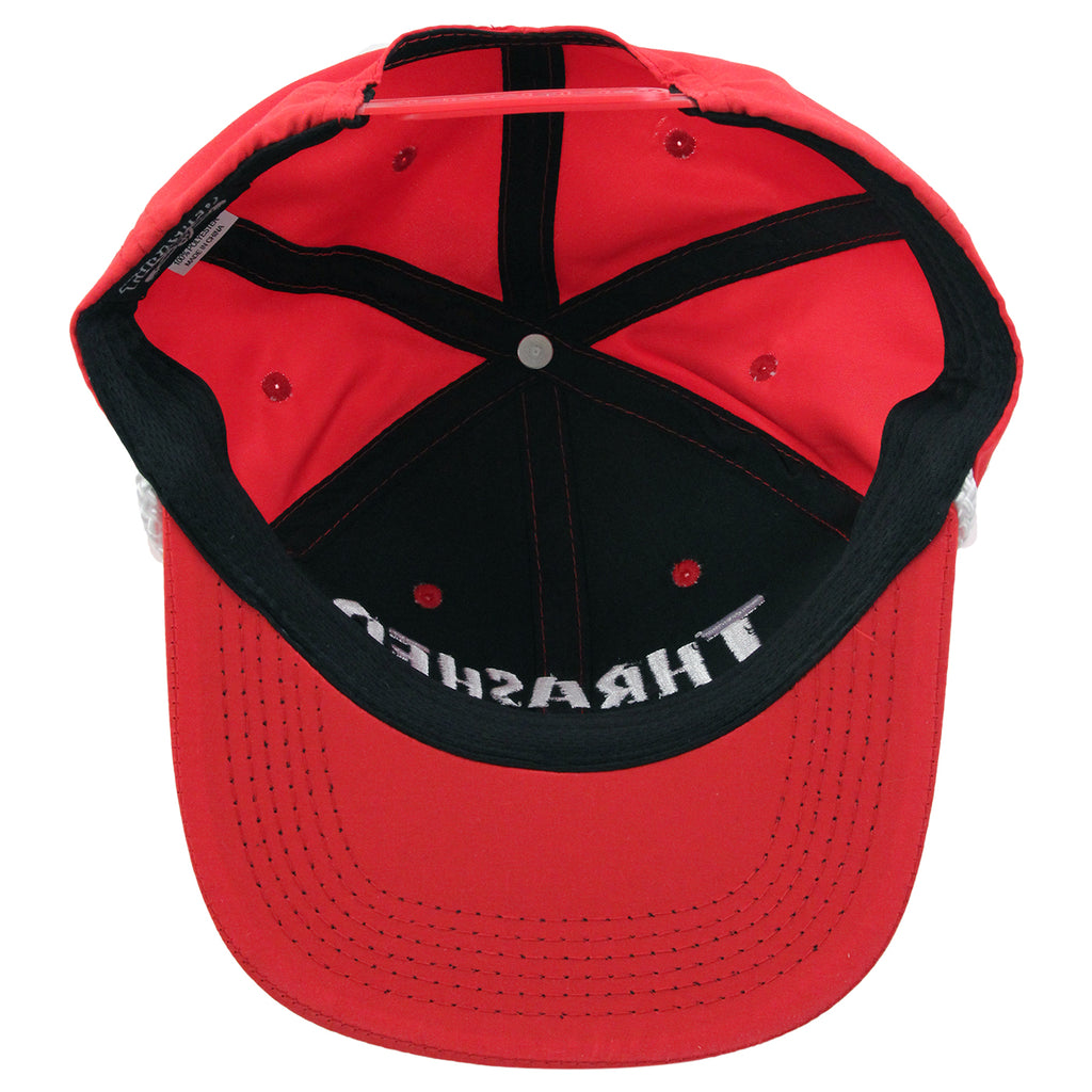 Thrasher Rope Snapback Cap in Red / White - Inside