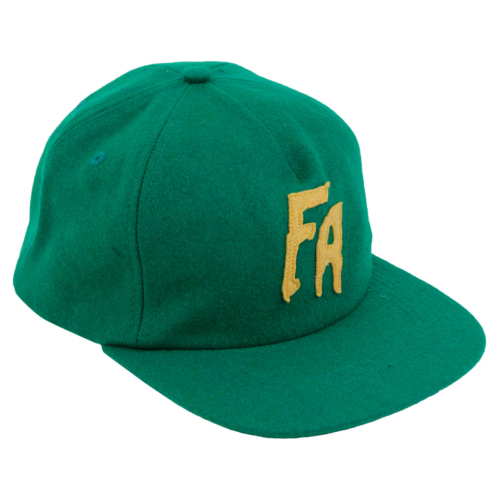 Fucking Awesome Classic FA Logo Wool Snapback Cap in Green