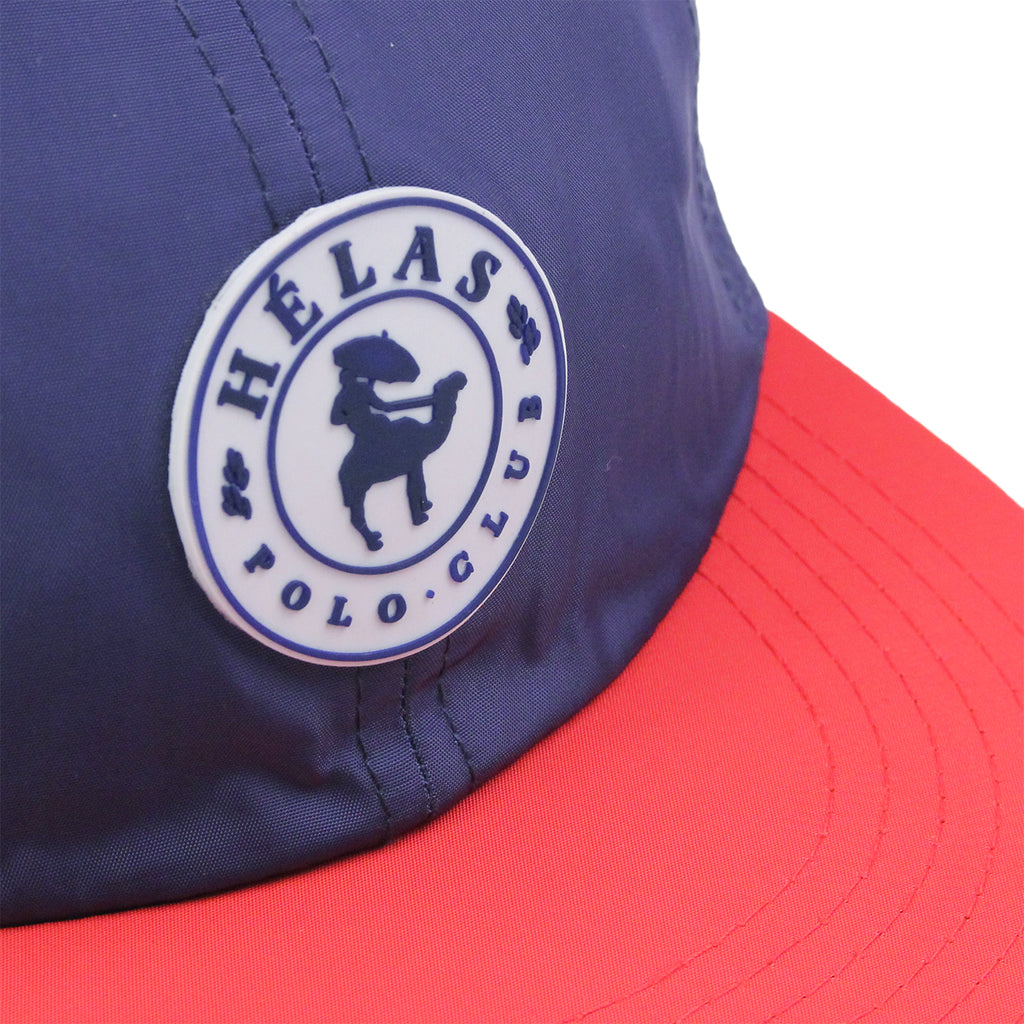 Helas Polo Club 6 Panel Cap in Navy / Red - Rubber tab
